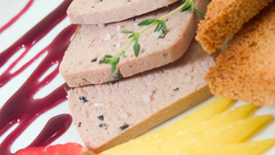 Thumbnail image for Foie Gras Terrine with Mulled Plums & Gingered Pears