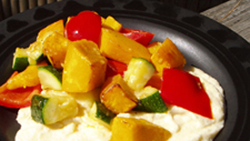 Thumbnail image for Roasted Pumpkin & Vegetable Medley with Creamy Polenta