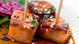 Thumbnail image for Grilled Teriyaki Salmon Bites