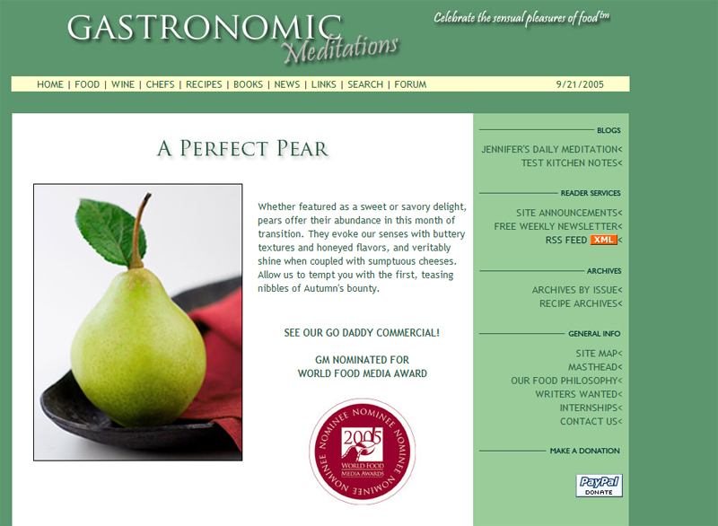 Gastronomic Meditations