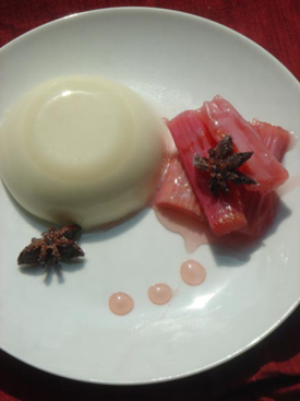 Post image for Anise Panna Cotta with Spiced Rhubarb