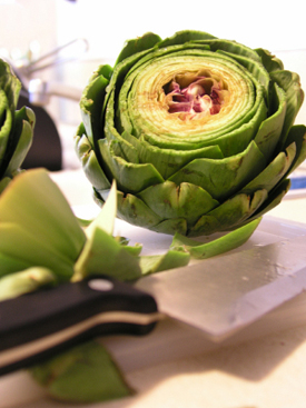 Post image for Steamed Artichokes with Lemon Herb Mayonnaise