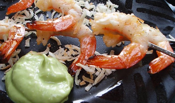 Post image for Avocado Crème Shrimp