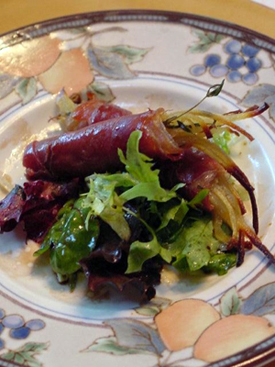 Post image for Celeriac and Prosciutto Rolls with Lemongrass Vinaigrette