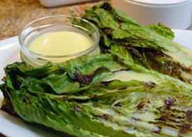 Post image for Grilled Romaine Lettuce with Creamy Lemongrass Dressing