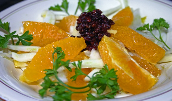 Post image for Fennel, Orange & Zereshk Salad with Fig Vincotto