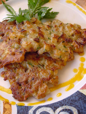 Post image for Pear Fritters with Sweet Potato & Sekel Pear Sauce