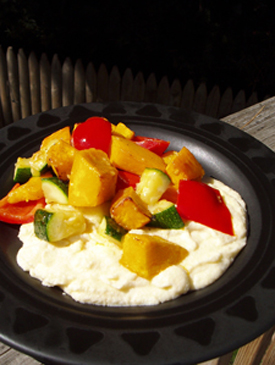 Post image for Roasted Pumpkin & Vegetable Medley with Creamy Polenta