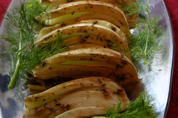 roasted fennel with lavender honey marinade