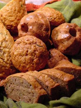 Post image for Zucchini & Sweet Potato Bread